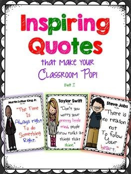 Inspiring Quotes for your Classroom Decor $$