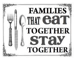 How to get the family to eat one meal!