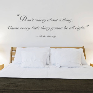 ... Teenage Bedrooms › Teenage Bedroom with Quotes Wall Stickers and