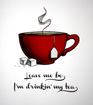 drinking tea