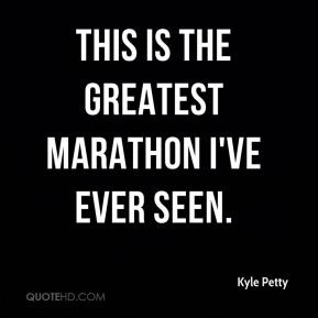 This is the greatest marathon I've ever seen.