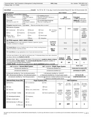 medical coding cheat sheet