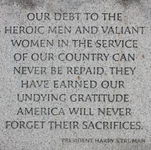 Harry Truman Quote WWII Memorial