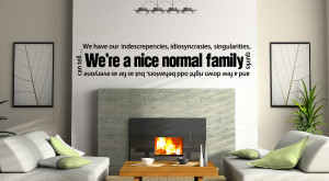 Vinyl Wall Quote Wallpaper Family Wall Decal Home By Newyorkvinyl Home ...