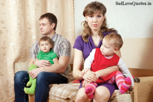 Short Sad Broken Family Quotes And Sayings with Sad Family Image
