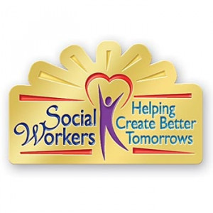 Social Workers Helping Create Better Tomorrows Lapel Pin ...