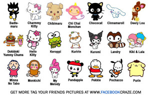 Cute Characters Tag Facebook Picture