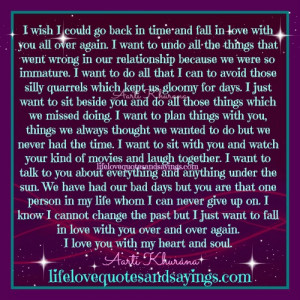 Wish To Go Back In Time | Love Quotes And SayingsLove Quotes And ...
