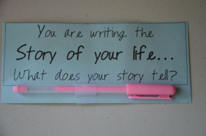 You are writing the story of your life...What does your story tell? (a ...