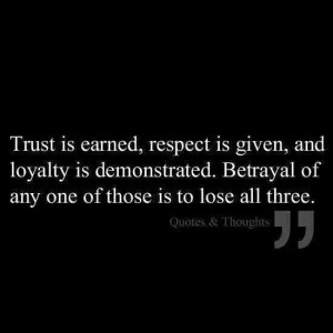 Trust respect loyalty