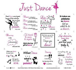 ... -PANEL-JUST-DANCE-BLOCK-PARTY-STUDIOS-INSPIRATIONAL-SAYINGS-ON-DANCE