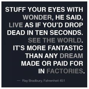 Fahrenheit 451 quotes, best, sayings, deep, dream