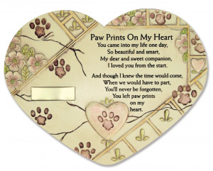 Paw Prints on My Heart Garden Stone