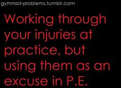 This Dosent only apply to gymnasts but also to every other athlete ...