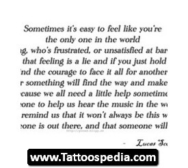 Gangsta Quote Tattoos Quote tattoos for women 02