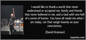 David Draiman Quote