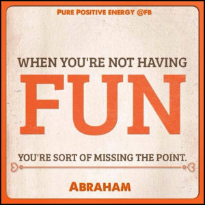 ... fun, you're sort of missing the point. *Abraham-Hicks Quotes (AHQ1163