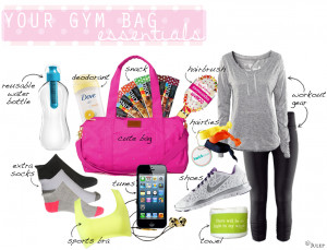 Here What Our Gym Bag...