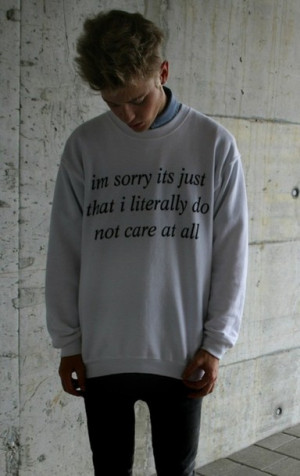 ... sweater-white+black+sweater-quote-oversized+sweater-don+t+care-white