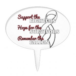 Bone Cancer Support Hope Remember Cake Picks