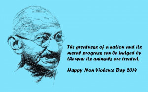 Gandhi Non Violence Day Quotes 2014 in Hindi English