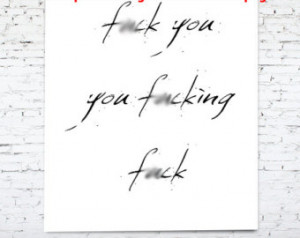 ck you, you f*cking, f*ck, f*ck, Funny Poster, Girl with the dragon ...