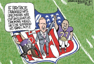 ... © Jeff Darcy,The Cleveland Plain Dealer,Ray Rice, Roger Goodell