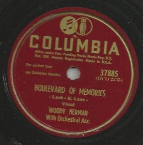 Woody Herman on 78 rpm Columbia 37885 Civilization Boulevard of