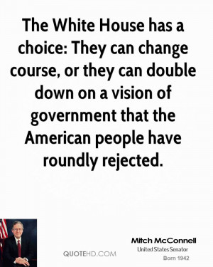The White House has a choice: They can change course, or they can ...