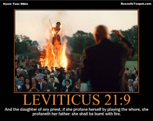 Know your Bible - quotes from Leviticus