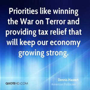 Dennis Hastert Priorities
