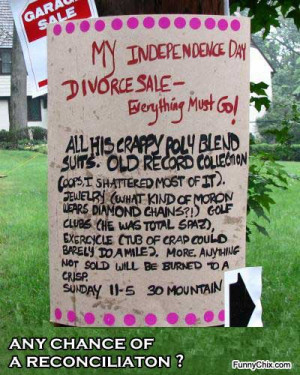 best new funny pictures garage sale after the relationship brakeup