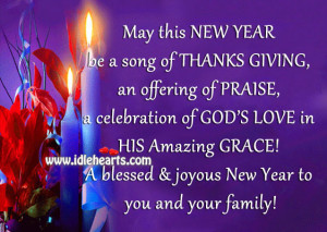 ... HIS Amazing GRACE! A blessed & joyous New Year to you and your family