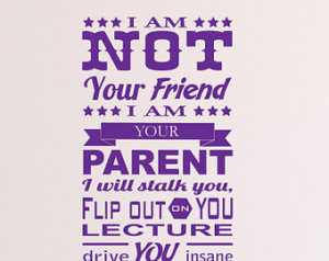 Parent Promise Matte Removable Wall Vinyl, parenting teens teenager ...