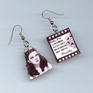 Wizard of Oz Earrings Dorothy quote movie reel