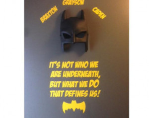 What We DO That Defines Us Batman S uperhero Quote Wall Sticker Decal ...