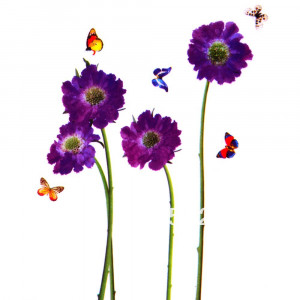 Sweet Romantic Removable Butterfly Flower Quote Vinyl Room LD610 Wall ...