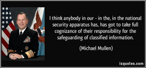 More Michael Mullen Quotes