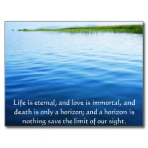 Poem About Death - Inspirational Grieving Quote Postcard