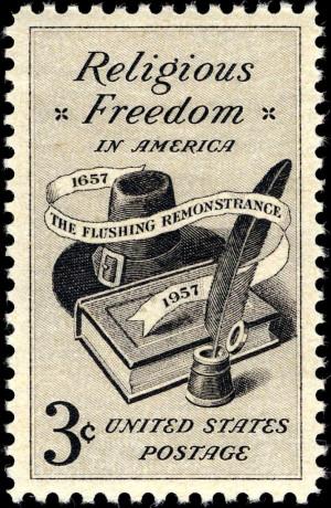 Description Religious Freedom 3c 1957 issue.JPG