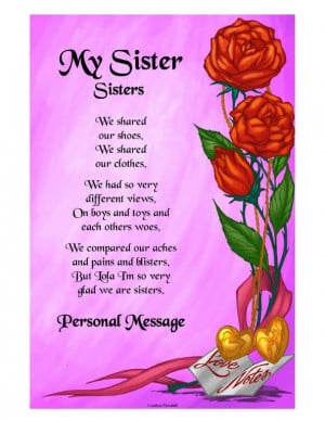 Sister Poems Poetry About Sisters Family Birthday Verses Quotes ...