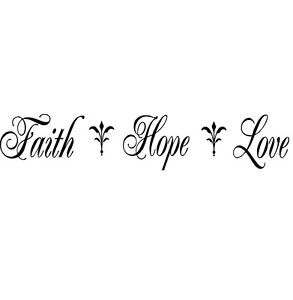 Religious-quote-Hope-Faith-Love-Believe-God-Lord-Christ-wall-mural ...