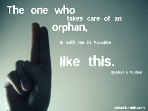Takes care of an orphan