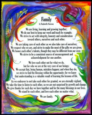 of Raphaella's poems, prayers and blessings celebrating family.