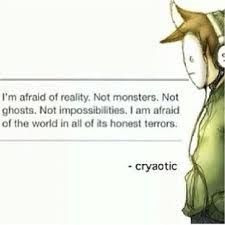 Cryaotic quote. More