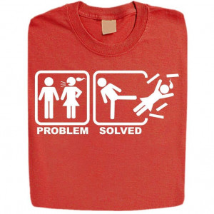 ... Problem Solved Funny Rude Offensive Adult Humor Mens T Shirts