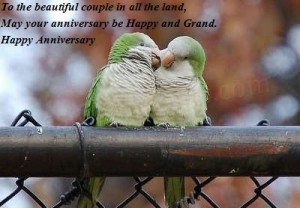... The Land, May Your Anniversary Be Happy And Grand - Anniversary Quote