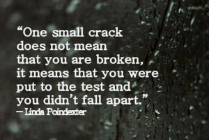 Means That You Were Put To The Test And You Didn't Fall Apart: Quote ...