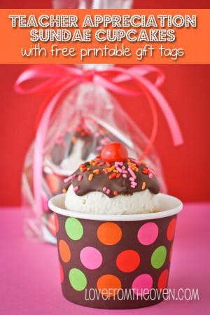 Ice Cream Sundae Cupcakes – For Teacher Appreciation Or Mother's ...