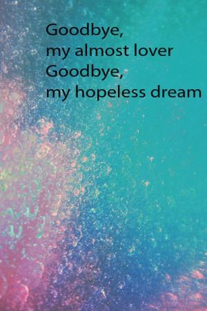 Goodbye almost lover lyrics